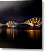Silent Lights Of The Magic Night. Metal Print