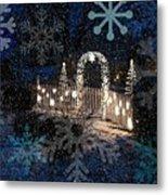 Silent Night Snow Metal Print