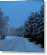 Silent Winter Night  Metal Print