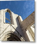 Silent Witness - Carmo Convent Roofless Ruin In Lisbon Portugal Metal Print