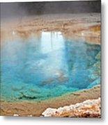 Silex Spring Fountain Paint Pot Yellowstone National Park Wy Metal Print