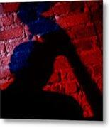 Silhouette Of A Jazz Musician 1964 Metal Print