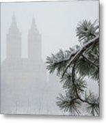 Silhouette Of The Eldorado Building Through Snow With Central Pa Metal Print