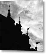 Silhouette Of The Roof In Rothenburg Germany Metal Print