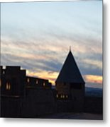 Silhouetted Castle Metal Print