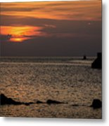 Silhouetted North Pier  Metal Print