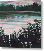Silhouetted Serenity Metal Print