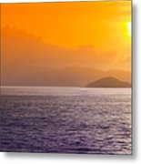 Silhouetted Ship  Metal Print