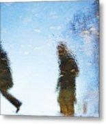Silhouettes In Blue Sky Metal Print