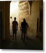 Silhouettes In Fez Metal Print