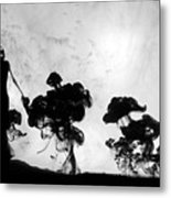 Silhuettes in moonlight Metal Print