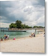Siloso Beach Metal Print