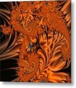Silk in Orange Metal Print
