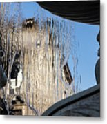 Silken Fountain Curtain -  Metal Print
