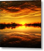 Silky Sunset  Metal Print