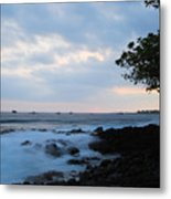 Silky Waves At Dusk Metal Print