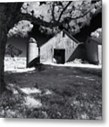 Silo In Black And White Metal Print
