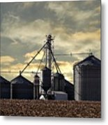 Silo In The Clouds Metal Print
