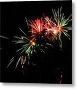 Silute 500. Lithuania. Fireworks 01 Metal Print