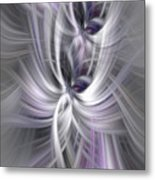 Silver Abstract Ascension. Mystery Of Colors Metal Print