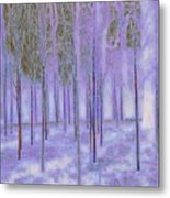 Silver Birch Magical Abstract  Metal Print