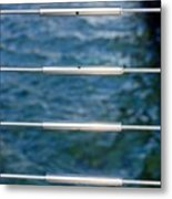 Silver Blues Metal Print