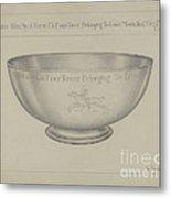 Silver Bowl Metal Print
