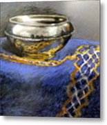 Silver Bowl Metal Print by Lenore Gaudet