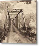 Silver Bridge Antique Metal Print