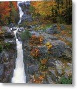 Silver Cascade In Autumn Metal Print