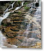 Silver Cascades - Crawford Notch New Hampshire Metal Print