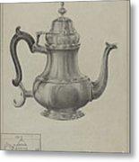 Silver Coffee Pot Metal Print