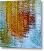 Silver Lake Autumn Reflections Metal Print