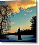 Silver Lake Sundown Metal Print
