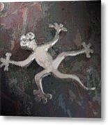 Silver Lizard Metal Print