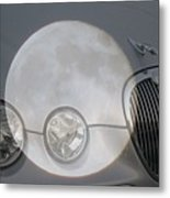 Silver Moon Jaguar Metal Print