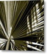 Silver Palm Metal Print