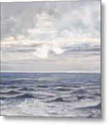Silver Sea Metal Print