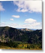 Silver Star Mountain Top Metal Print