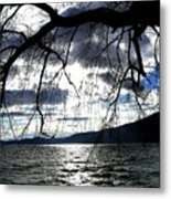 Silver Sunset Metal Print