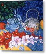 Silver Tea Pot Metal Print