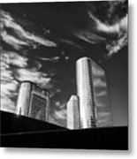 Silver Towers Metal Print
