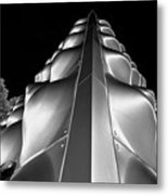 Silver Triangle Metal Print