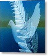 Silver-wing Metal Print