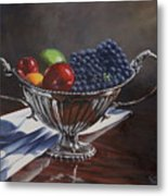 Silvered Fruit Metal Print