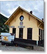 Silverton Train Depot Metal Print