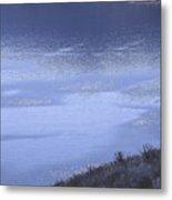 Silverwood Lake In Blue Overcast Metal Print