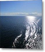 Silvery Ocean Metal Print