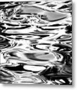 Silvery Water Ripples Metal Print