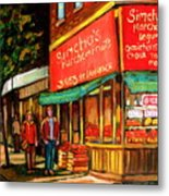 Simchas  Fruit Store Metal Print